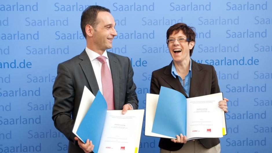 Unterzeichnung Koalitionsvertrag Saarland