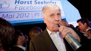 Horst Seehofer Throws Facebook-Fan Party