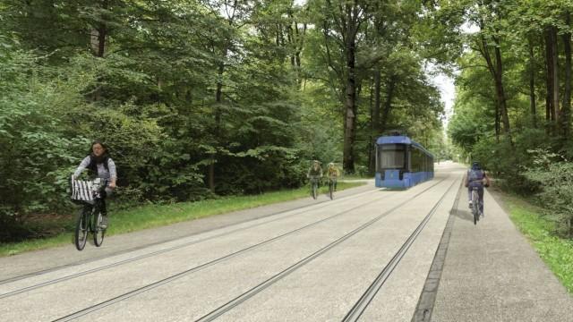 MVG gestaltet Tram-Trasse durch den Englischen Garten - München ...