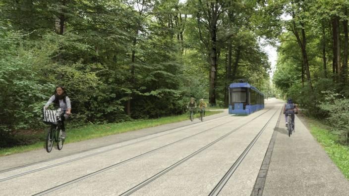 MVG gestaltet Tram-Trasse durch den Englischen Garten ...