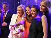 Dana Schweiger, Barbara Bonisolli und Eva Padberg bei der Launch-Party für den Pay-TV-Sender Glitz am 8. Mai in München.