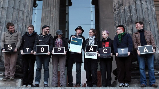 Activists Protest Internet Copyright Restrictions