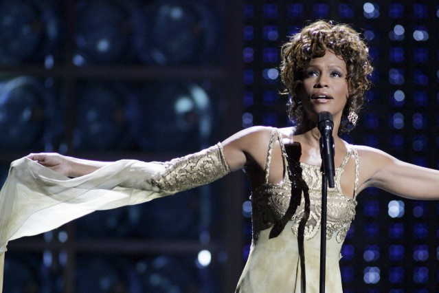 File photo of Whitney Houston at the World Music Awards in Las Vegas