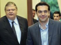 Evangelos Venizelos Alexis Tsipras Griechenland