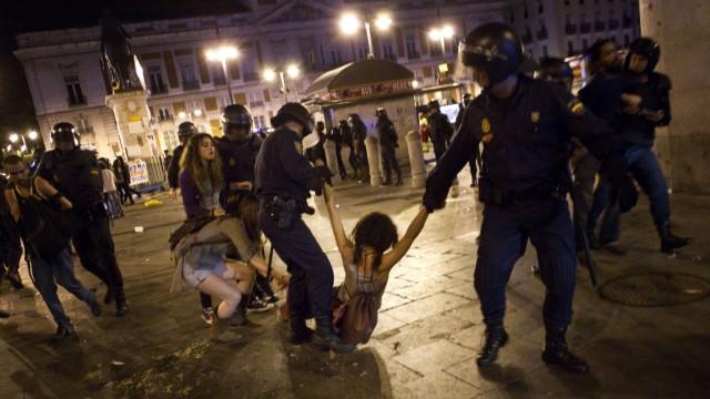 Occupy-Bewegung Jahrestag der Occupy-Bewegung in Spanien