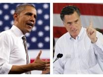 mitt romney im wahlkampf mit obama usa