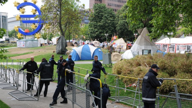 Occupy-Camp in Frankfurt