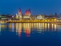 Baku Aserbaidschan vor dem Eurovision Song Contest
