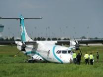 Maschine am Flughafen München notgelandet