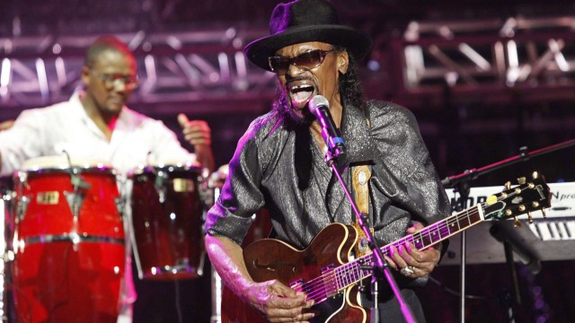 File photo of Guitarist Chuck Brown at Pigeon Island