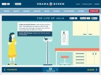 Julia wirbt im Netz für Barack Obama