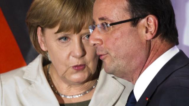 Angela Merkel, Francois Hollande