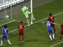 Chelsea's Drogba scores a goal against Bayern Munich during their Champions League final soccer match at Allianz Arena in Munich