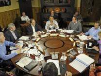 Caption-Korrektur: G-8 Gipfeltreffen in Camp David