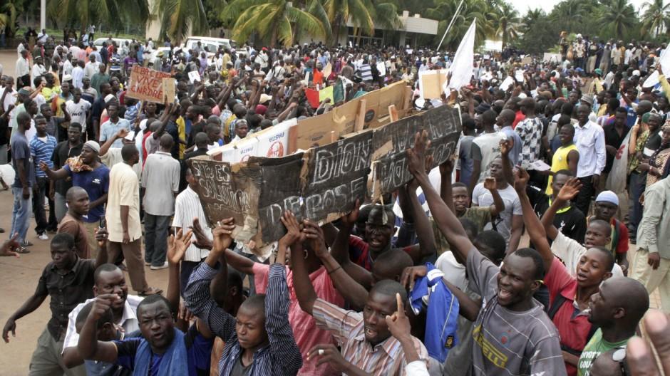 Auseinandersetzungen in Mali Westafrika
