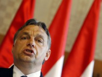 Hungarian Prime Minister Orban attends joint news conference after meeting with his Croatian counterpart Milanovic in Budapest