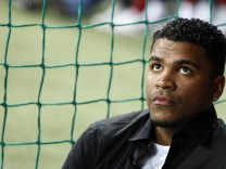 Bayern Munich's Breno arrives for a friendly soccer match against the Netherlands in Munich