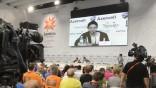 Pressekonferenz beim Eurovision Song Contest in Baku