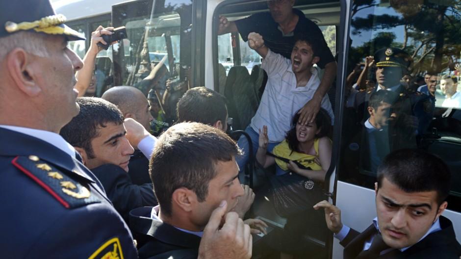 Erneut Festnahmen bei Demonstration in Baku