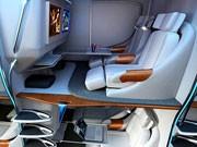Neues Flugzeug Design Kabine Passagier Sitze, Bild: Airborne Hotel Systems