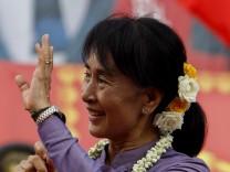 Suu Kyi betritt die Weltbühne