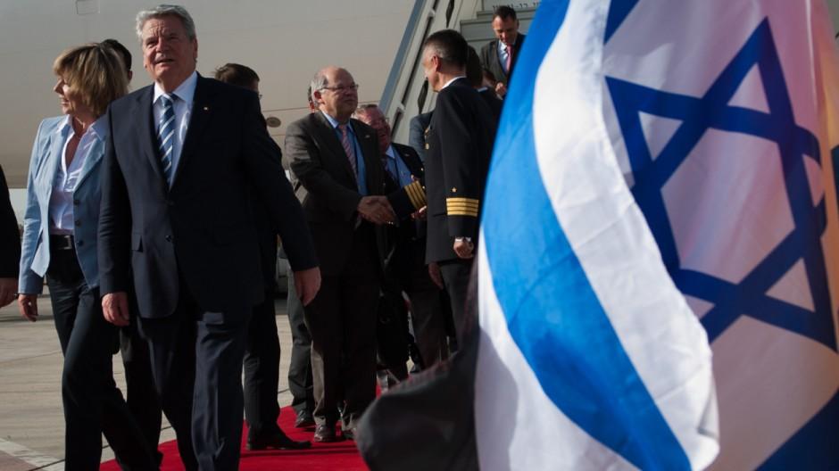 Gauck zu Staatsbesuch in Israel eingetroffen