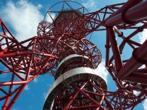The ArcelorMittal Orbit is seen in the London 2012 Olympic Park in east London