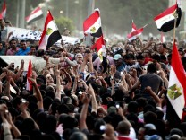 Protest in Tahrir Square after the verdict in Mubarak trial