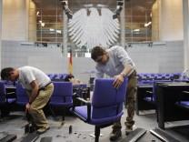Neue Sitzordnung im Parlament