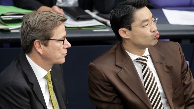 Bundestag - Rösler und Westerwelle