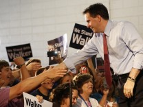 Wisconsin Governor Scott Walker Campaigns Ahead Of Recall Election