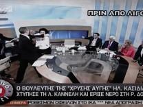 Ilias Kasidiaris schlägt Liana Kanelli