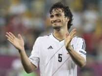 Germany's Hummels celebrates victory against Portugal at the and of their Group B Euro 2012 soccer match in Lviv