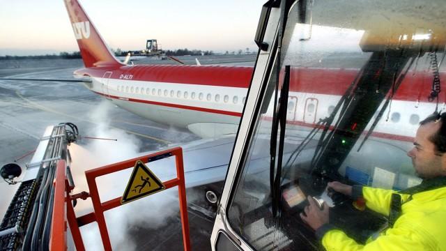 Enteisung von Verkehrsflugzeugen