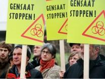 Bauernproteste gegen Gentechnik