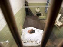 John Anglin's cell at the former Alcatraz Island federal prison greets visitors