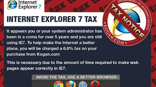 """Digitalblog """"Sondersteuer"""" auf Internet Explorer 7"""