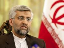 Irans Atomunterhändler Dschalili in Peking.