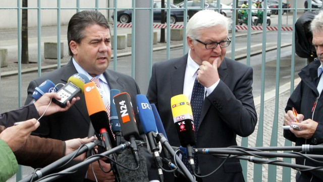 Koalition- und Oppositionstreffen bei Merkel