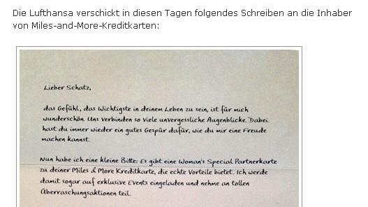 Lufthansa Sexismus-Vorwürfe gegen die Lufthansa
