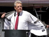 Bundespräsident Gauck veranstaltet Demokratie-Fest