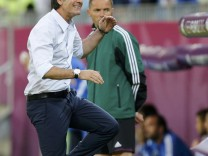 Germany's coach Loew reacts during their Euro 2012 quarter-final soccer match against Greece at PGE Arena in Gdansk