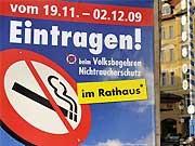 Nichtraucherschutz, Volksbegehren, ddp