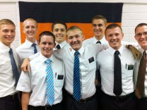 Junge Mormonen als Missionare