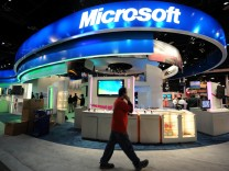Microsoft-Messestand auf der Consumer Electronics Show in Las Vegas