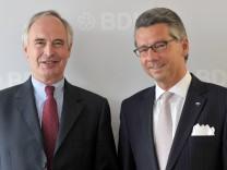 BDI-Präsident Hans-Peter Keitel und designierter Nachfolger Ulrich Grillo
