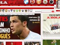 Portugal Spanein EM Ronaldo Europameisterschaft Fußball Euro