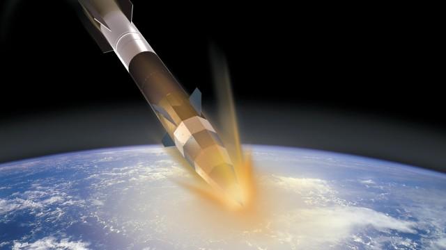 Rakete Shefex 2 beim Eintritt in die Erdatmosphäre