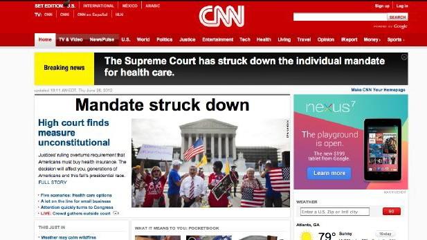 US Fernsehen Falschmeldung zur Gesundheitsreform