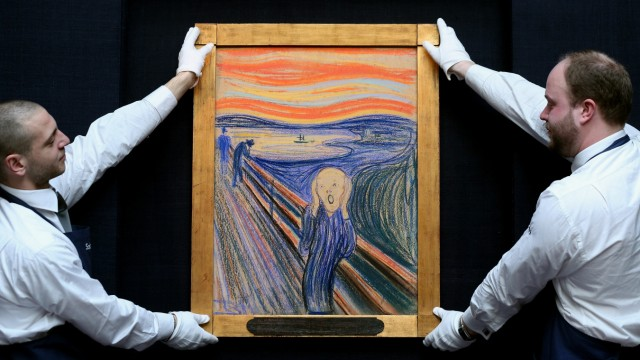 Edvard Munch's The Scream Goes On Display Ahead Of Auction